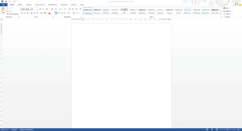 Microsoft Office 2013 - Word Screenshot