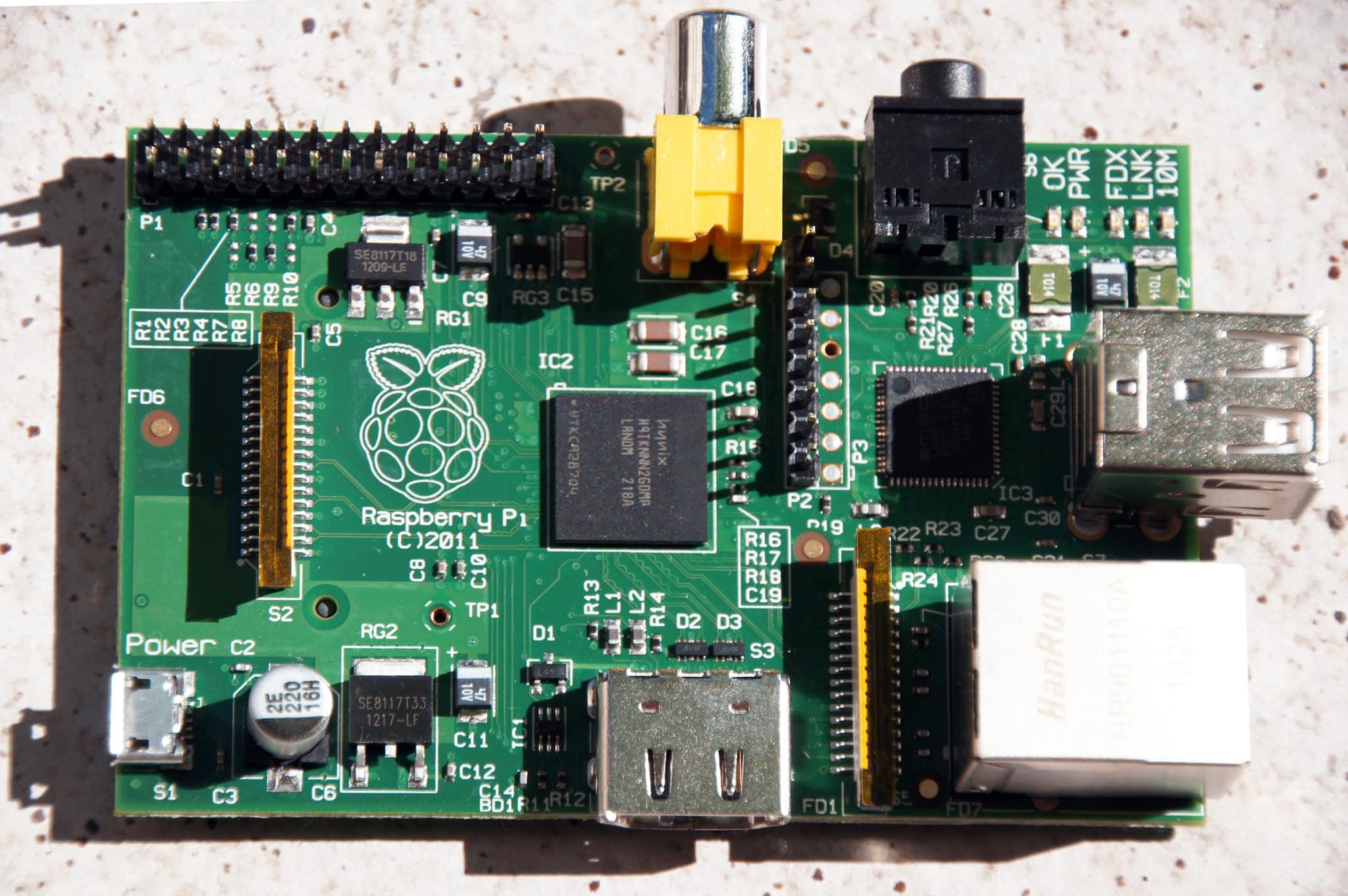 Raspberry Pi von Oben